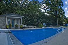 Beautiful Pool installation by Flandscape in London, Ontario, Canada